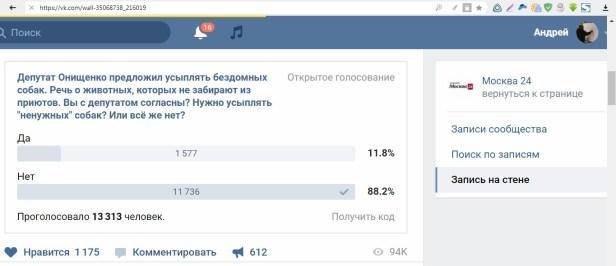 опрос онищенко м24